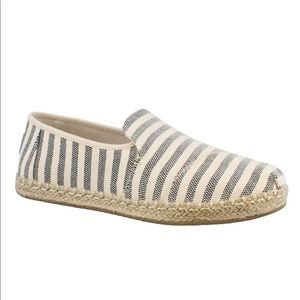 Toms Striped Deconstructed Alpargatas Slip Ons